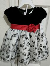 Baby Girl Christmas Dress red black white Photo shoot size 12 months NEW