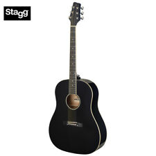 Stagg Sa35Ds-Bk Lh Dreadnought Acoustic Guitar w/ Slope Shoulder Left Hand Black
