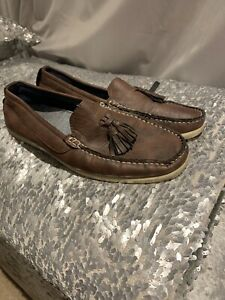 Mens River Island Brown Boat Shoes Size 6
