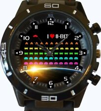 I Love 8 Bit Space Invaders New Trendy Sports Series Unisex Gift Wrist Watch