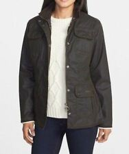 Barbour Fitted Wax Cotton Utility Jacket Black NWT Size 4