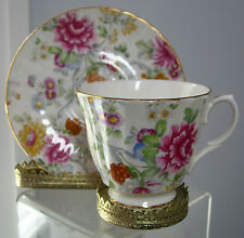 Vintage Duchess Cup & Saucer  England ,fine bone china, Peonies