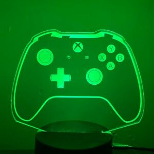 XBOX CONSOLE GAMER PS4 3D Acrylic LED 7 Colour Night Light Lamp Gift