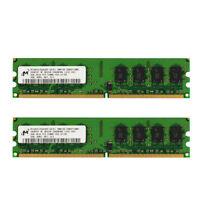 For Micron 4GB 2x2GB 2Rx8 PC2-5300U-555-12  HYMP125U64CP8-S6 work to Intel RAM