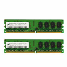 For Micron 4GB 2x2GB 2Rx8 PC2-5300U-555-12  HYMP125U64CP8-S6 work to Intel RAM