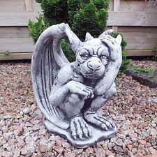 Steinfigur kleiner massiver Mystischer Gargoyle Torwächter Drache frostfest Dek