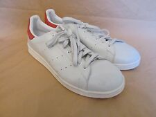 New Men's Adidas Originals Stan Smith OG White Red Leather Trainers 13.5 D67363