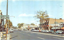 East Hartford CT Main Street Store Fronts Movie Theatre Marquee Cars Postcard