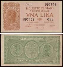 1 LIRA ITALIA LAUREATA 23/11/1944 VENTURA LUOGOTENENZA FDS/UNC FIOR DI STAMPA