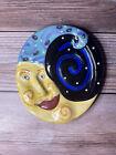 "Dana Simson Wall Art Plaque Ceramic 5.75"" Tall New Moon  2001"