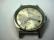 Id 30.04mm Mens Vintage 65 jewel gruen watch case dial and crystal LOOK