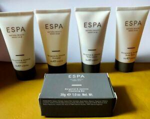 1 x ESPA Travel set 5pc-30ml Bottles Bergamot And Jasmine with gift