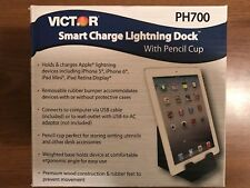 New! VICTOR PH700 Smart Charge Lightning Dock with Pencil Cup - Black