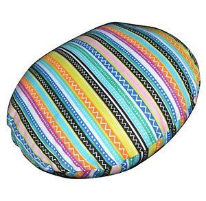 Flat Round Shape Cover*Stripe Cotton Canvas Floor Seat Chair Cushion Case*AK2