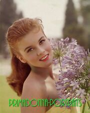 ANN MARGRET COLOR 8x10 1960s Photo Adorable w/ Red Lipstick & Ponytail w/flower