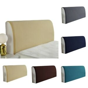 Bedroom Decor Stretchy Bed Head Cover Headboard Slipcover Solid Bed Head Covers