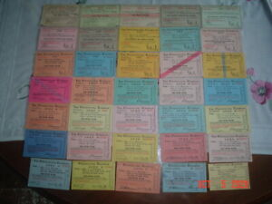 LOT OF 35 PENNSYLVANIA RAILROAD PASSES - 1921-1958 - GREAT SHAPE