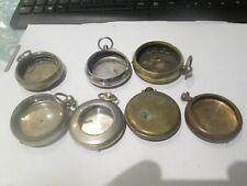 7 vintage  pocket watch cases