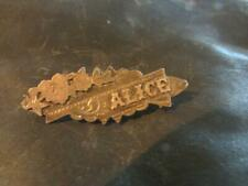 Alice, Name Brooch, Chester,1912 Lovely Edwardian Solid Silver
