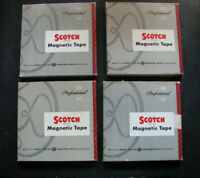 """10"""" 2400ft MAGNETIC TAPE Lot (4) Reel-to-Reel SCOTCH 111A SONY vtg CLASSICAL"""