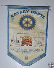 Vintage Mogi Das Cruzes Sao Paulo Brasil Brazil Rotary Club International Banner