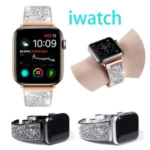 Diamond Band For Apple Watch Series SE 6 5 4 3 2 1 Metal Strap Crystal Bracelet