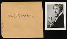 Noel Harrison Vintage Signed Album Page Autographed Signature