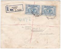 APH1306) Australia 1932 small surface mail registered cover to Netherlands.