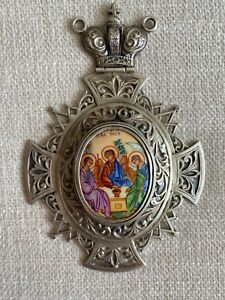 ANTIQUE RUSSIAN SILVER PANAGIA