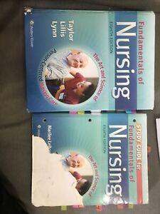 Fundamentals of Nursing 8th Edition by Taylor Lillis Lynn (Hardcover) & STUDY GU