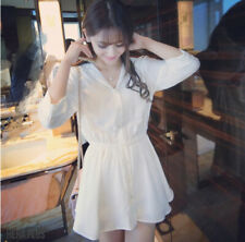 Robes blancs col en v pour femme