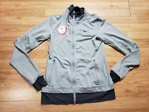 Vintage Nike Team USA Olympics Full Zip Track Jacket Gray Women's Size Medium