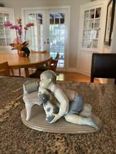 New ListingLladro 6027, 'Hanukah Lights,' Boy with Menorah, Porcelain Sculpture, Mint