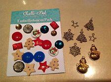Lelli-Bot Manualidades ~ ~ De Navidad Oro Adorno Paquete ~ Dijes, Botones,