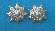 Staybright/Anodised.The East Yorkshire Regiment collar badges.