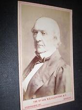 Cdv old photograph William Gladstone by London Stereoscopic c1870s Ref 38(1)