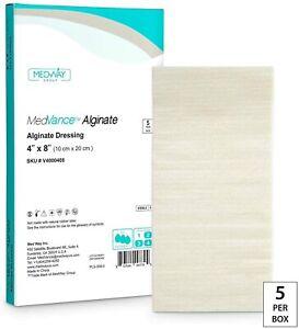 "MedVance Calcium Alginate Dressing 4""X8"", Box of 5 Dressings"