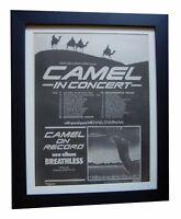 CAMEL+Breathless+TOUR+POSTER+AD+RARE ORIGINAL 1978+FRAMED+EXPRESS+GLOBAL SHIP