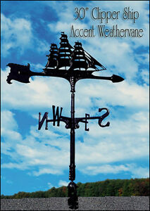 "Whitehall 30"" Clipper Ship Accent Weathervane Includes Mount - Quick Shipping!"
