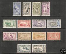 Falkland Islands #107-120 VF MLH - 1952 KGVI Pictorials