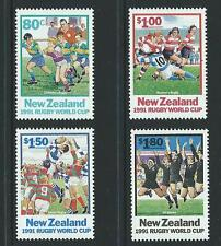 1991 NEW ZEALAND Rugby World Cup Set MNH (SG 1623-1626)