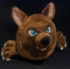 """Halloween Big Bad wolf werewolf Head w/Sewn Eyes KellyToy Plush 10"""" Brown"""