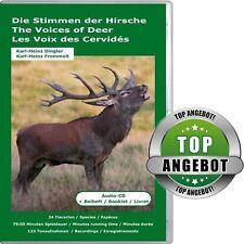 Audio-CD: Die Stimmen der Hirsche, 18 Arten vom Axishirsch bis zum Zwerg-Wapiti