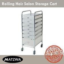 Hair Salon Spa Pedicure Manicure Storage Rolling Cart Stylist Station Trolley
