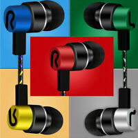 Universal Cell Phone 3.5mm Super Bass Stereo In-Ear Earbuds Earphone With Mic X1