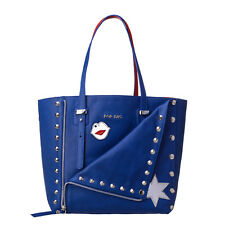 POP BAG By J&C Studded Calf Leather Modular Punk Icon Tote Bag Made in Italy