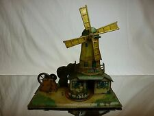 VINTAGE TIN TOY WK GERMANY WILHELM KRAUSS DIORAMA WINDMILL - W24.0cm VERY RARE