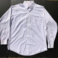Men's Brooks Brothers White Plaid Button Down Dress Shirt Sz 16-4/5