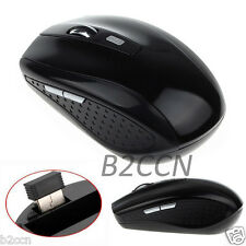 2.4GHz USB Dongle Wireless Cordless Optical Scroll Mouse for PC Laptop Black