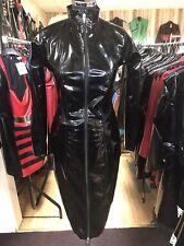 Misfitz black pvc zip pencil mistress dress, 2 way zip,size 18 TV CD Goth Pin Up